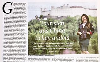 """Presseartikel der Salzburger Nachrichten – """"Touristenaus China ticken anders"""""""